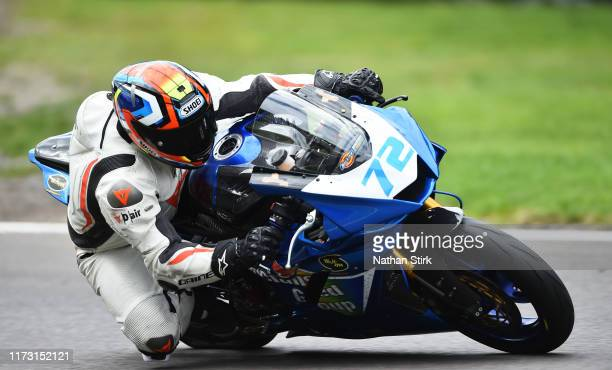 Cameron Horsman in action during the British Superbike Championship at Oulton Park on September 08, 2019 in Chester, England.