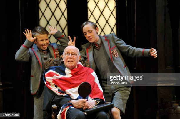 Cameron House as Pupil Richard Wilson as Headmaster and Alex Phillips as Pupil in Alan Bennett's Forty Years On directed by Daniel Evans at...