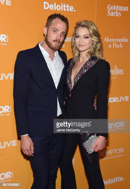 Cameron Howard and India Gants attend The Trevor Project TrevorLIVE NYC 2017 at Marriott Marquis Times Square on June 19 2017 in New York City