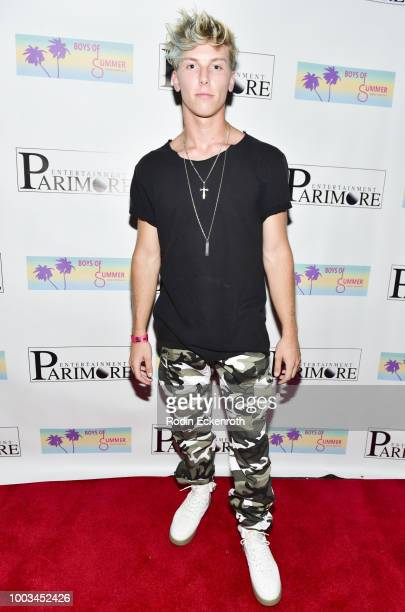 Cameron Huff attends the Boys of Summer Tour Kick Off Show at Whisky a Go Go on July 21 2018 in West Hollywood California