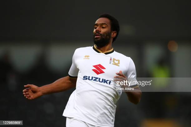 Cameron Jerome of MK Dons during the Emirates FA Cup Second Round match between Barnet FC and Milton Keynes Dons at The Hive London on November 29,...