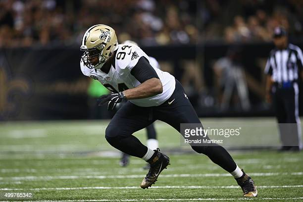 Cameron Jordan of the New Orleans Saints at MercedesBenz Superdome on September 20 2015 in New Orleans Louisiana