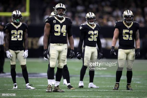 Cameron Jordan of the New Orleans Saints in action against the New York Jets at MercedesBenz Superdome on December 17 2017 in New Orleans Louisiana