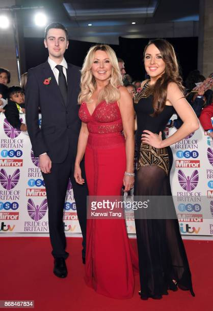 Cameron King, Carol Vorderman and Katie King attend the Pride Of Britain Awards at the Grosvenor House on October 30, 2017 in London, England.