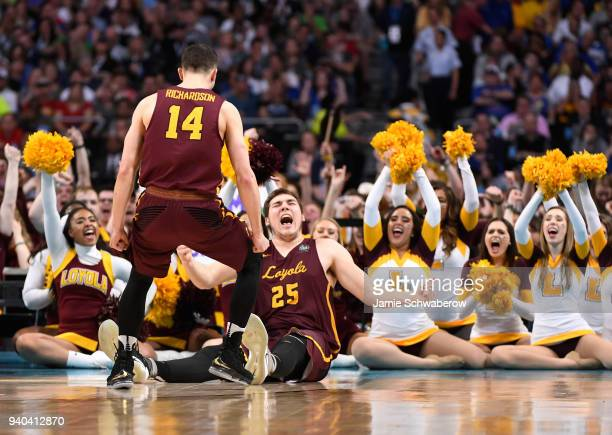 Cameron Krutwig of the Loyola Ramblers reacts against the Michigan Wolverines during the second half in the 2018 NCAA Photos via Getty Images Men's...
