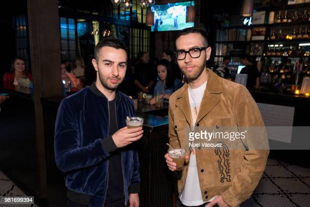 Cameron Lazerine and Devin Lazerine attend a party hosted by CAA Remy Martin at Luchini on June 21 2018 in Los Angeles California