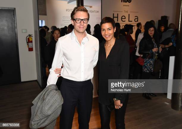 Cameron Leel Jackie Gagne attends HBO's The HeLa Project Exhibit For The Immortal Life of Henrietta Lacks on April 6 2017 in New York City