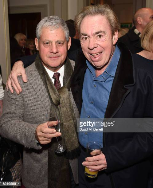 Cameron Mackintosh and Andrew Lloyd Webber attend the press night performance of Dick Whittington at The London Palladium on December 13 2017 in...