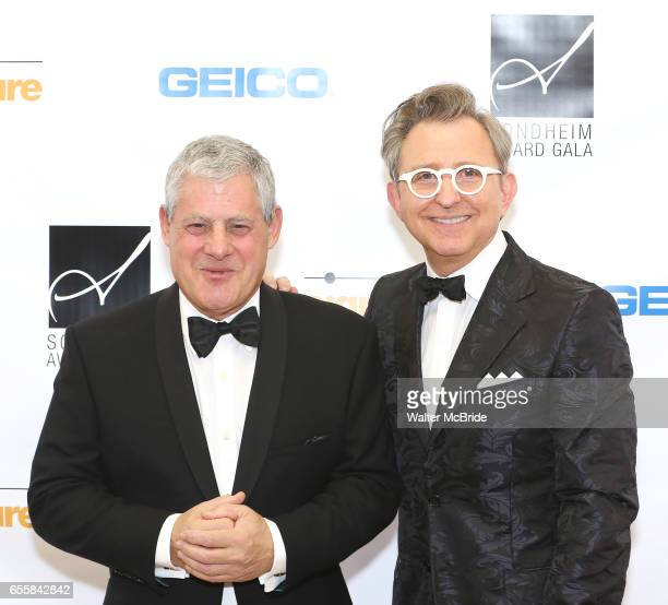 Cameron Mackintosh and Tom Schumacher attend the 2017 Sondheim Award Gala at the Italian Embassy on March 20 2017 in Washington DC