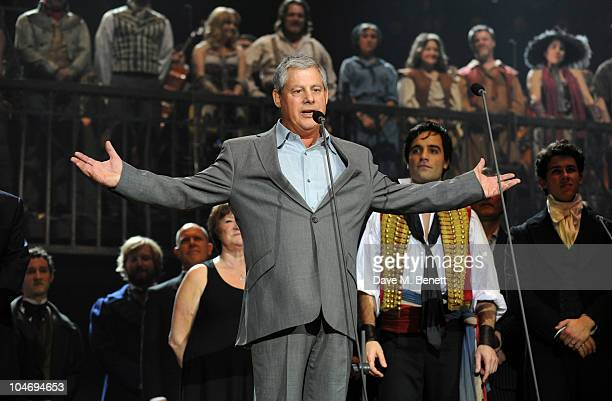 Cameron Mackintosh attends anniversary performance of 'Les Miserables' at The O2 Arena on October 3 2010 in London England