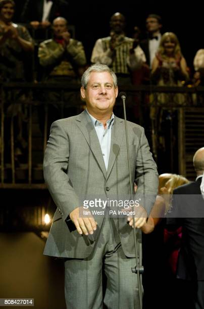 Cameron Mackintosh during the curtain call of the Les Miserables Anniversary performance at the O2 in London