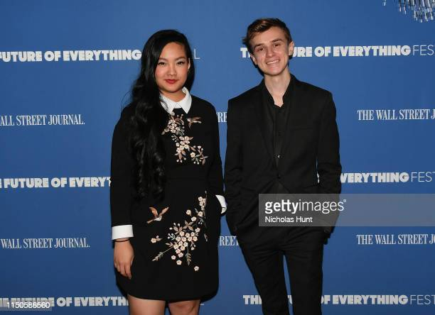 Cameron Marsh CoFounder of Zero USA and Amanda Nguyen Founder and CEO of Rise attend The Wall Street Journal's Future Of Everything Festival at...