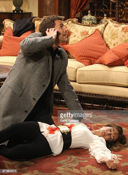 CHILDREN Cameron Mathison and Susan Lucci in a scene that airs the week of March 1 2010 on ABC Daytime's 'All My Children' 'All My Children' airs...