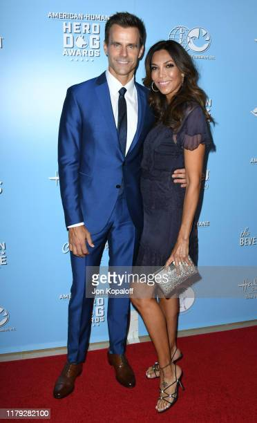 Cameron Mathison and Vanessa Arevalo attend the 9th Annual American Humane Hero Dog Awards at The Beverly Hilton Hotel on October 05 2019 in Beverly...