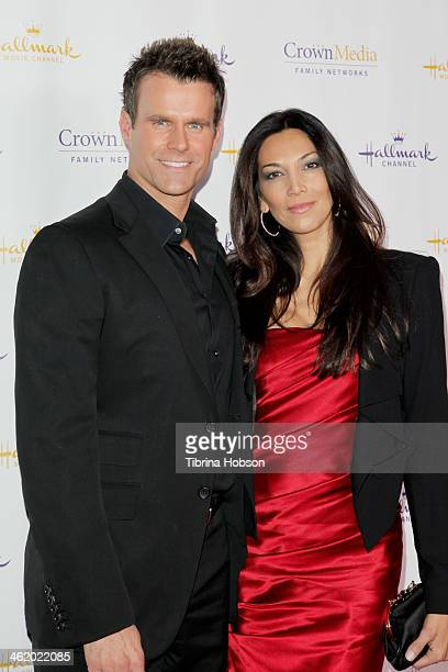 Cameron Mathison and Vanessa Arevalo attend the Hallmark Channel Hallmark Movie Channel TCA event at The Huntington Library and Gardens on January 11...