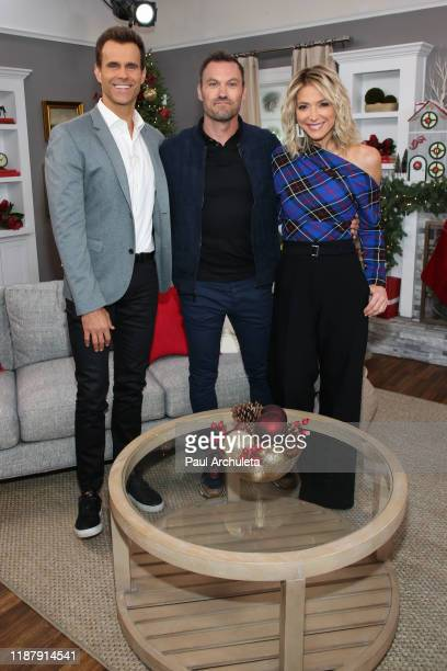 "Cameron Mathison, Brian Austin Green and Debbie Matenopoulos on the set of Hallmark Channel's ""Home & Family"" at Universal Studios Hollywood on..."