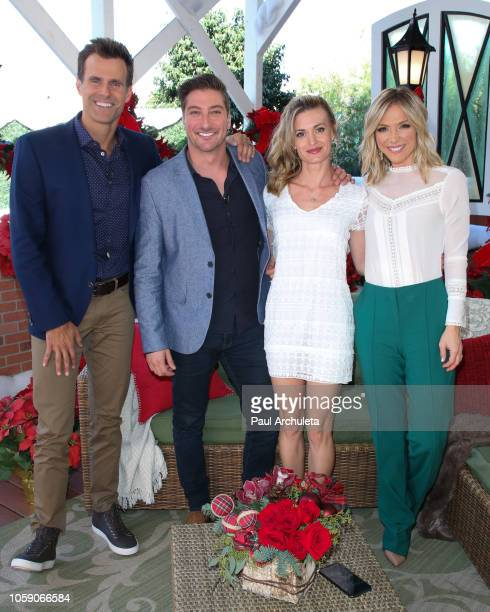 Cameron Mathison Daniel Lissing Brooke D'orsay and Debbie Matenopoulos on the set of Hallmark's Home Family at Universal Studios Hollywood on...