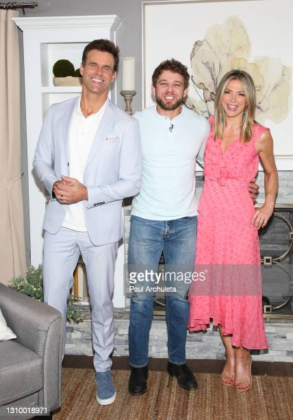 """Cameron Mathison, Max Thieriot and Debbie Matenopoulos on the set of Hallmark Channel's """"Home & Family"""" at Universal Studios Hollywood on March 30,..."""
