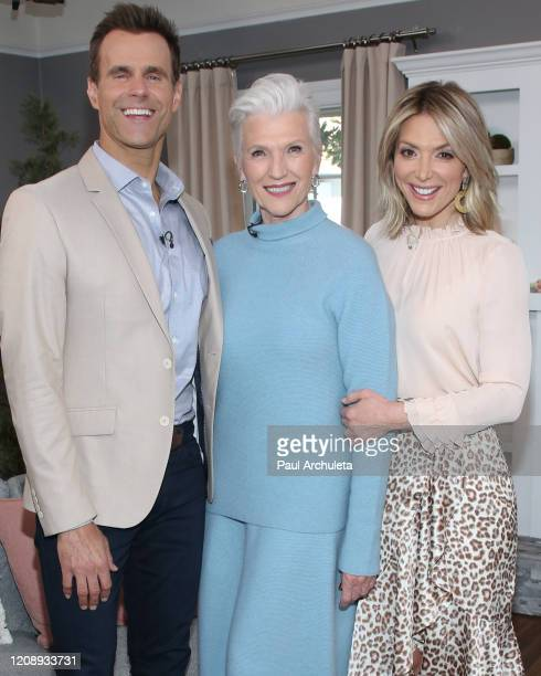 """Cameron Mathison, Maye Musk and Debbie Matenopoulos on the set of Hallmark Channel's """"Home & Family"""" at Universal Studios Hollywood on February 26,..."""