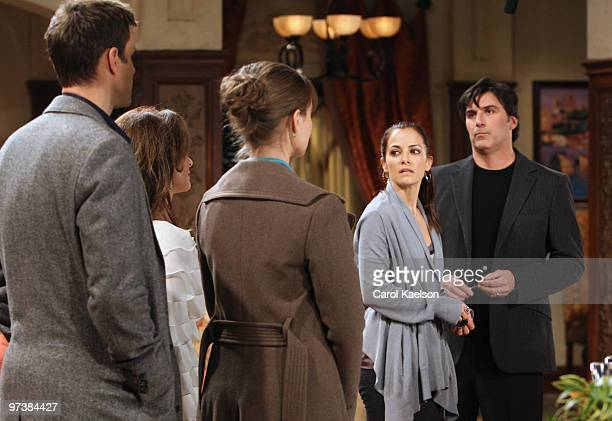 CHILDREN Cameron Mathison Susan Lucci Anna Koonin Rebecca Budig and Vincent Irizarry in a scene that airs the week of March 1 2010 on ABC Daytime's...