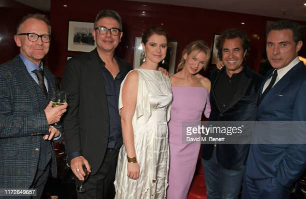 Cameron McCracken David Livingstone Jessie Buckley Renee Zellweger Rupert Goold and Rufus Sewell attend the Judy European Premiere after party at JW...