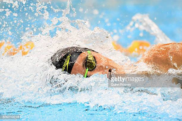 Cameron McEvoy of Australia competes in the Semi Final of the Men's 100 Metre Freestyle during day four of the Australian Swimming Championships at...