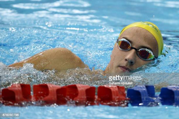 Cameron McEvoy of Australia warms up during the FINA Swimming World Cup at OCBC Aquatic Centre on November 19 2017 in Singapore