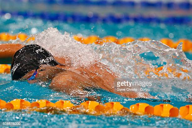 Cameron McEvoy swims in heat 2 of the Mens 200m freestyle at the Hancock Prospecting Australian Short Course Championships in The Sydney Olympic Park...