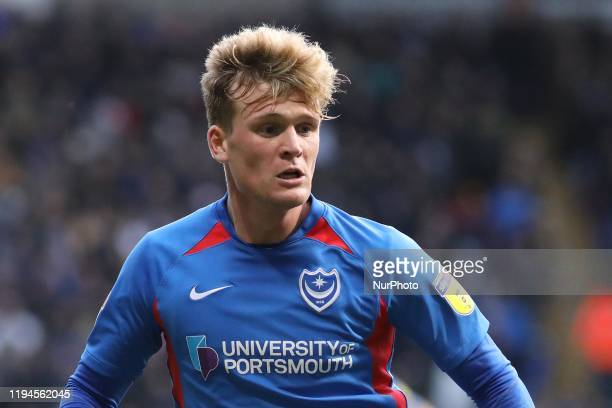 Cameron McGeehan of Portsmouth FC in action during the Sky Bet League 1 match between Bolton Wanderers and Portsmouth at the Reebok Stadium, Bolton...