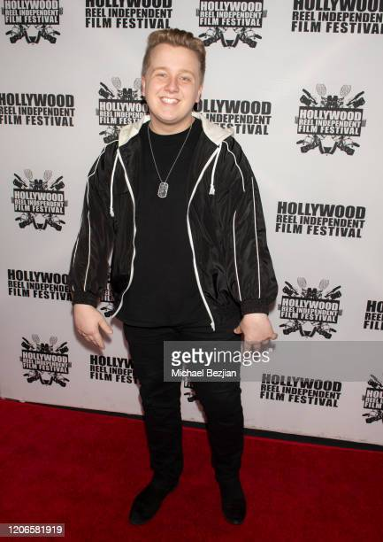 Cameron McLeod arrives at A Dark Foe Film Premiere on February 15 2020 in Los Angeles California