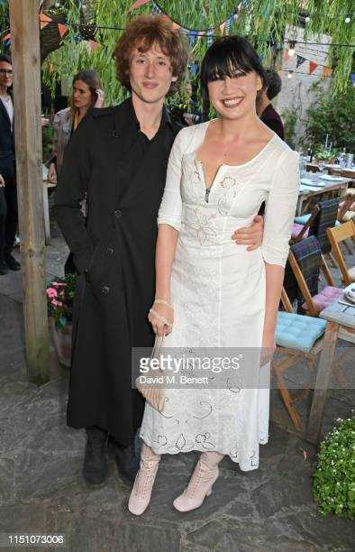 Cameron McMeikan and Daisy Lowe attend the VIP London launch of the Barbour by ALEXACHUNG collection at The Albion on June 20 2019 in London England