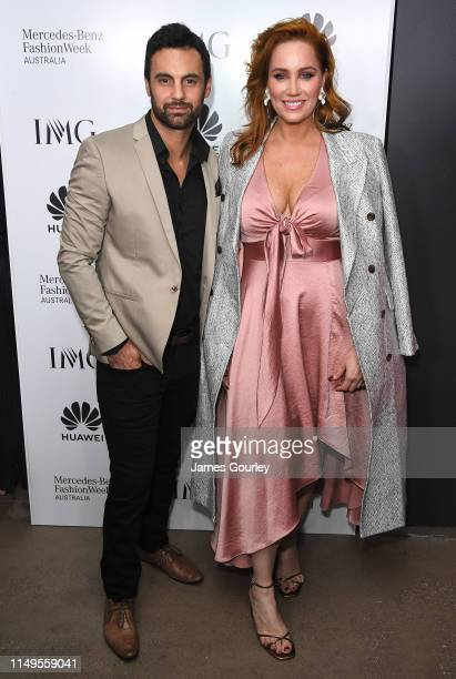 Cameron Merchant and Jules Robinson attends the MercedesBenz Fashion Week Australia official closing party on May 16 2019 in Sydney Australia