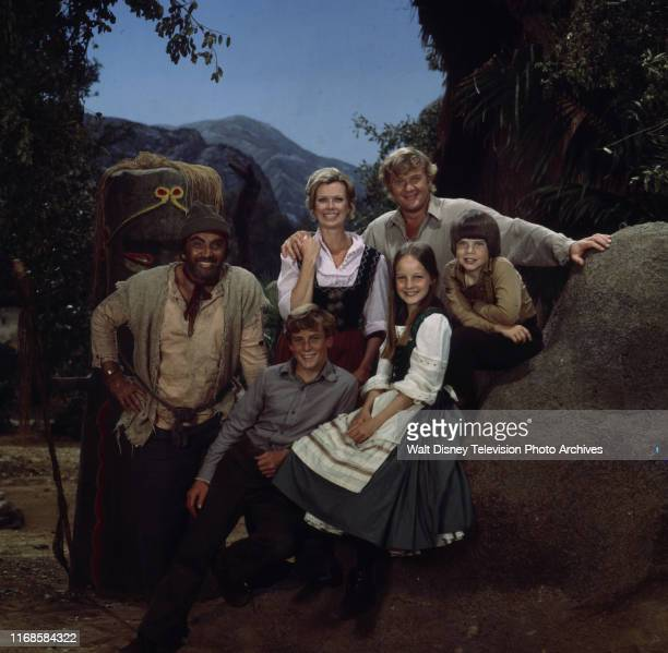 Cameron Mitchell Pat Delany Martin Milner Willie Aames Helen Hunt Eric Olson promotional photo for the ABC tv series 'Swiss Family Robinson'