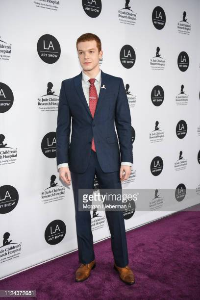 Cameron Monaghan arrives at the LA Art Show 2019 Opening Night Gala at the Los Angeles Convention Center on January 23 2019 in Los Angeles California