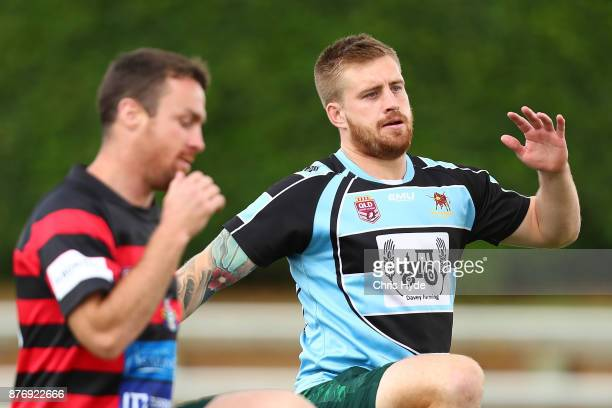 Cameron Munster runs during an Australian Kangaroos Rugby League World Cup training session at Langlands Park on November 21 2017 in Brisbane...