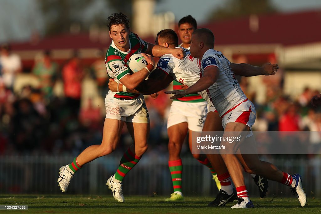 NRL Trial Match - Rabbitohs v Dragons : News Photo
