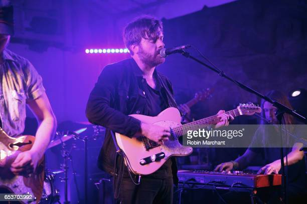 Cameron Neal and Zach Zeller perform on stage at the Bella Union 20th Anniversary Party at TuneIn Studios @ SXSW 2017 on Wednesday March 15th 2017 in...
