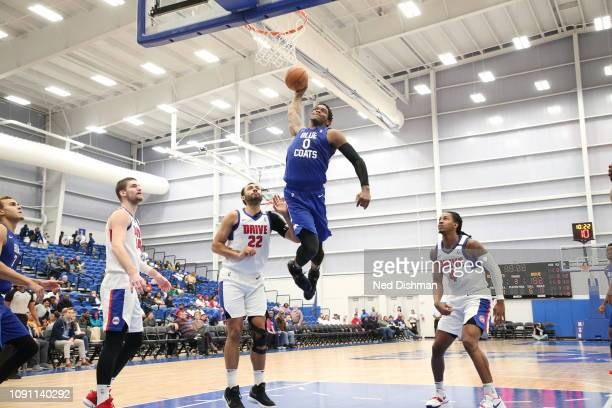 Cameron Oliver of the Delaware Blue Coats dunks against the Grand Rapids Drive during an NBA GLeague game at the 76ers Fieldhouse on January 29 2019...