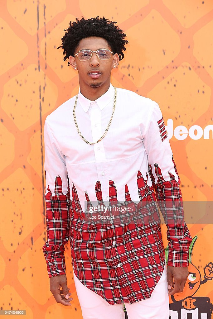 Cameron Payne arrives at Nickelodeon Kids' Choice Sports Awards 2016 at UCLA's Pauley Pavilion on July 14, 2016 in Westwood, California.