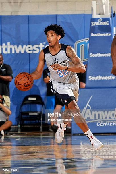 Cameron Payne of Oklahoma City Thunder handles the ball during the game against the Indiana Pacers during the 2016 NBA Orlando Summer League on July...