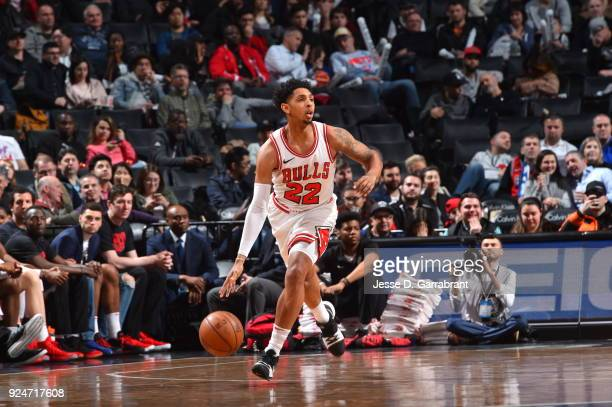 Cameron Payne of the Chicago Bulls dribbles up court against the Brooklyn Nets on February 262018 at Barclays Center in Brooklyn New York on Drazen...