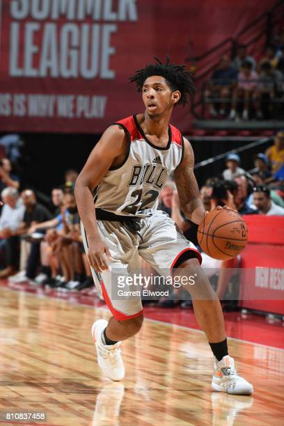 Cameron Payne of the Chicago Bulls handles the ball against the Dallas Mavericks on July 8 2017 at the Thomas Mack Center in Las Vegas Nevada NOTE TO...