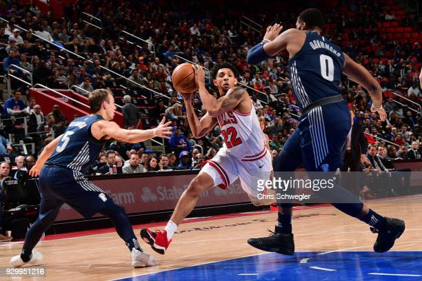 Cameron Payne of the Chicago Bulls handles the ball against the Detroit Pistons on March 9 2018 at Little Caesars Arena in Detroit Michigan NOTE TO...