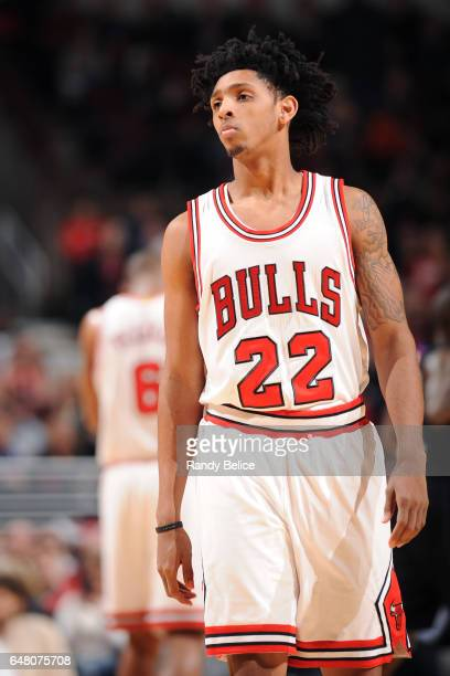 Cameron Payne of the Chicago Bulls looks on during the game against the LA Clippers on March 4 2017 at the United Center in Chicago Illinois NOTE TO...
