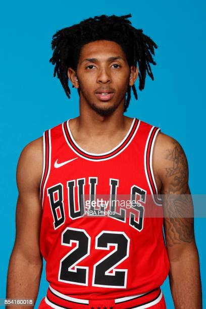 Cameron Payne of the Chicago Bulls poses for a head shot during NBA Media Day on September 25 2017 at the Advocate Center in Chicago Illinois NOTE TO...
