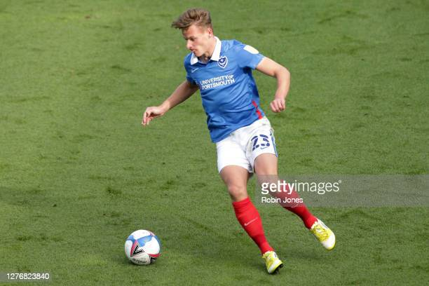 Cameron Pring of Portsmouth FC during the Sky Bet League One match between Portsmouth and Wigan Athletic at Fratton Park on September 26, 2020 in...