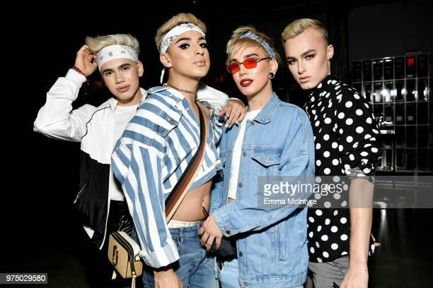 Cameron Pulido and guests attend MAC Cosmetics Aaliyah Launch Party on June 14 2018 in Hollywood California
