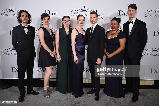 Cameron Quevedo Beryl Allee Gillian Murphy Ethan Stiefel Candy Guinea and Gordon Straub attend the 2016 Princess Grace Awards Gala with presenting...