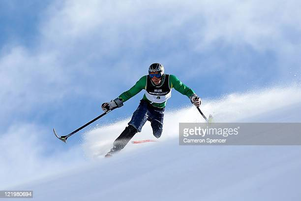 Cameron RahlesRahbula of Australia competes in the Mens Slalom Standing during day 13 of the Winter Games NZ at Coronet Peak on August 25 2011 in...