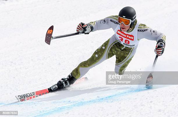 Cameron RahlsRahbula of Australia skis to first place in the 2009 US Adaptive Alpine Men's Standing Skier Downhill at the Winter Park Resort on April...